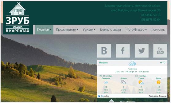 корпоративный сайт отдых в буковели