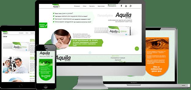 Адаптивный дизайн мультилендинга Aquila