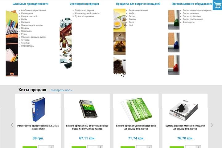 Категории товаров в интернет-магазине