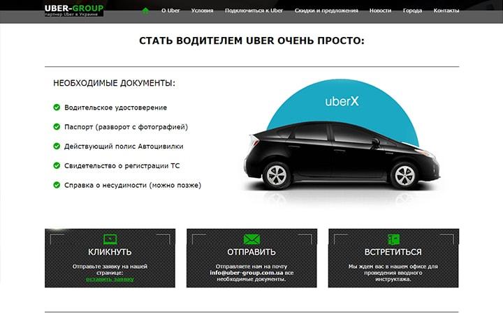 Требования на сайте-визитке такси
