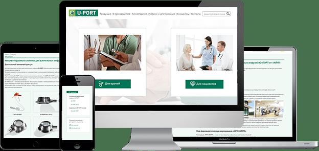 Сайт-визитка Ю-ПОРТ с адаптивной версткой