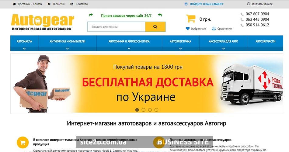 Отрисовка главной страницы интернет-магазина автотоваров