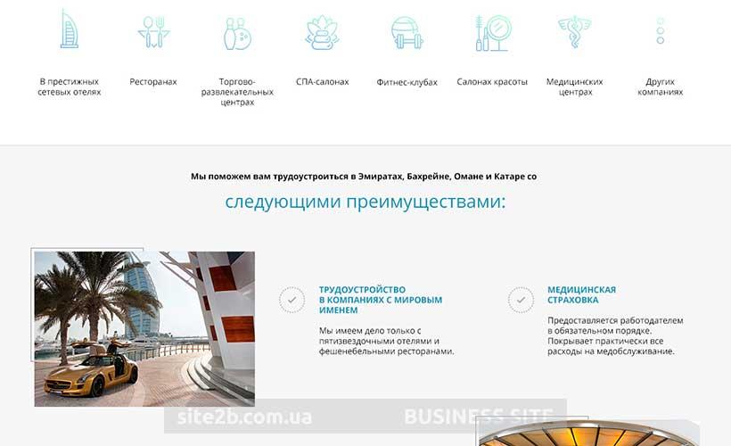 Сайт агентства по трудоустройству