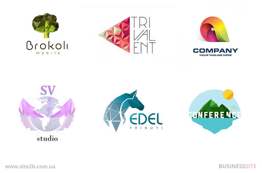 Логотипы в полигональном стиле