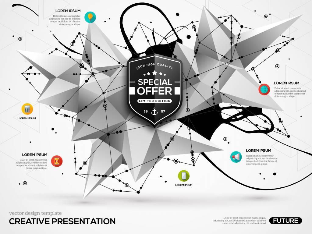 веб-дизайн 2019 ломаная сетка
